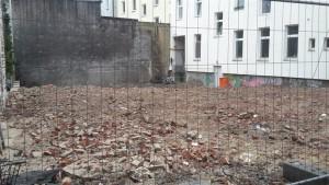 Das Baugelände nach dem Abriss des Rialto