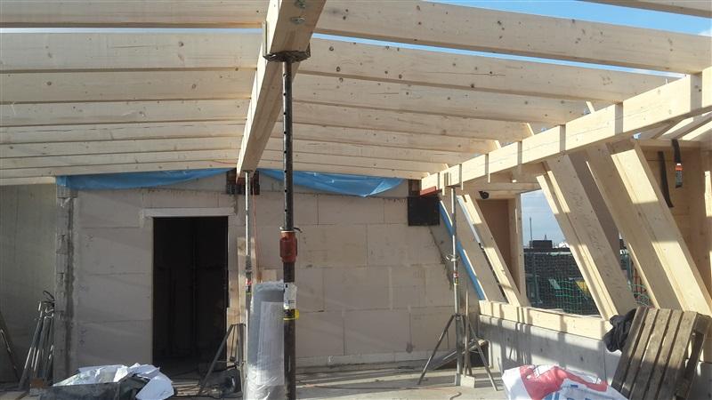 Dach und Gauben von innen