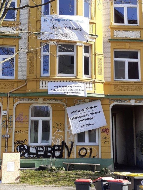 Dieses Haus will die Stadt Hamburg per Vorkaufsrecht erwerben, um es dann abzureißen.