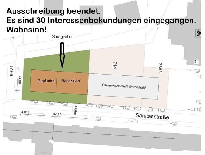 Erster Architektenentwurf-Lageplan